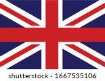 uk flag united kingdom flag...   Shutterstock .eps vector #1667535106