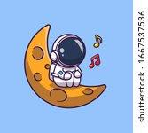 Astronaut Singing On Moon...