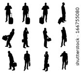 silhouettes of businesspeople | Shutterstock . vector #166755080
