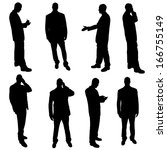 silhouettes of businesspeople | Shutterstock . vector #166755149