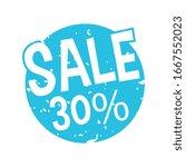 grunge sale 30 percent label | Shutterstock .eps vector #1667552023