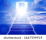 Abstract Background With Door...