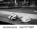 Two Pairs Of Childrens Shoes...