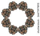 floral border design elements.... | Shutterstock . vector #1667597893