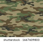 camouflage seamless pattern.... | Shutterstock .eps vector #1667609803