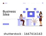 business ideas vector...