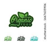 organic food logo or label....   Shutterstock .eps vector #1667635906