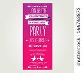 invitation valentine's day... | Shutterstock .eps vector #166763873
