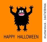 happy halloween. monster... | Shutterstock .eps vector #1667658466