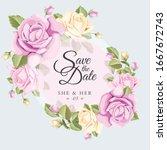 wedding card vector template... | Shutterstock .eps vector #1667672743