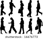 walking and moving people... | Shutterstock .eps vector #16676773