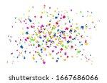 falling confetti isolated white ... | Shutterstock . vector #1667686066