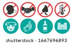 set of prohibiting icons. no... | Shutterstock .eps vector #1667696893