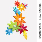 composition of 3d stylized... | Shutterstock .eps vector #1667720806