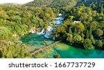 Krka Waterfalls In The Krka...
