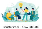 business team working together  ... | Shutterstock .eps vector #1667739283