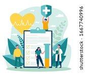 patients and doctor advertising ...   Shutterstock .eps vector #1667740996