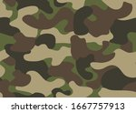 camouflage seamless pattern.... | Shutterstock .eps vector #1667757913