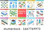 isometric scene vector design... | Shutterstock .eps vector #1667769973