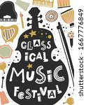 classical music festival vector ...   Shutterstock .eps vector #1667776849