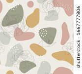seamless pattern with abstract... | Shutterstock .eps vector #1667777806