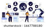 smart factory. industry 4.0... | Shutterstock .eps vector #1667788180