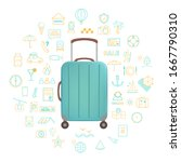 travel icons concept. idea of...