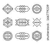 minimal monochrome geometric... | Shutterstock .eps vector #166779239