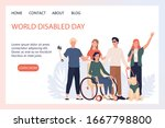 world disabled day landing page ... | Shutterstock .eps vector #1667798800