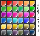 colorful vector buttons with...   Shutterstock .eps vector #166780316