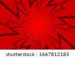 comic red sunbeam background....   Shutterstock .eps vector #1667812183