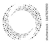 vector set of halftone dotted... | Shutterstock .eps vector #1667829850
