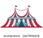 vintage circus tent....   Shutterstock .eps vector #1667846626