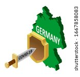 germany protection against... | Shutterstock .eps vector #1667858083