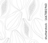 seamless vector pattern with... | Shutterstock .eps vector #1667881960