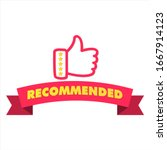 recommended icon with thumbs... | Shutterstock .eps vector #1667914123