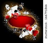 casino background  | Shutterstock .eps vector #166791866