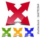 4 direction arrow sign | Shutterstock .eps vector #166792364