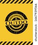 Outdo Black Grunge Emblem With...