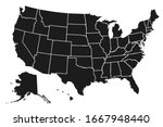 united states of america map.... | Shutterstock .eps vector #1667948440