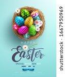 easter poster and banner... | Shutterstock .eps vector #1667950969