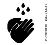hand wash icon. vector icon of...   Shutterstock .eps vector #1667953159