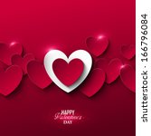 Bright Valentine`s day background  | Shutterstock vector #166796084