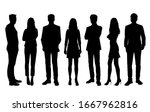 set of vector silhouettes of ... | Shutterstock .eps vector #1667962816