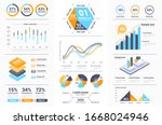 business infographics set with... | Shutterstock .eps vector #1668024946