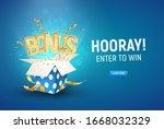 bonus word flying from textured ...   Shutterstock .eps vector #1668032329