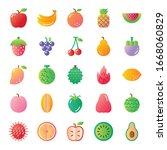 fruit gradient vector icons... | Shutterstock .eps vector #1668060829
