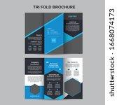 geometric tri fold fitness... | Shutterstock .eps vector #1668074173