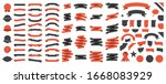 set of 100 ribbons. ribbon... | Shutterstock .eps vector #1668083929