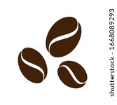 icon of well roasted coffee... | Shutterstock .eps vector #1668089293